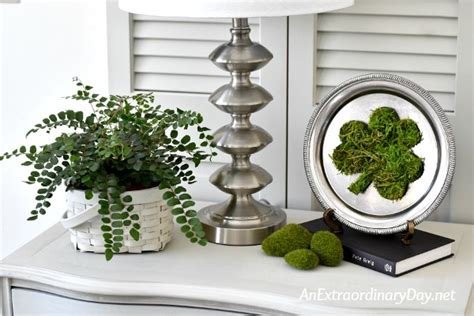 shamrock decorations home how to make a moss shamrock simple st patrick s day