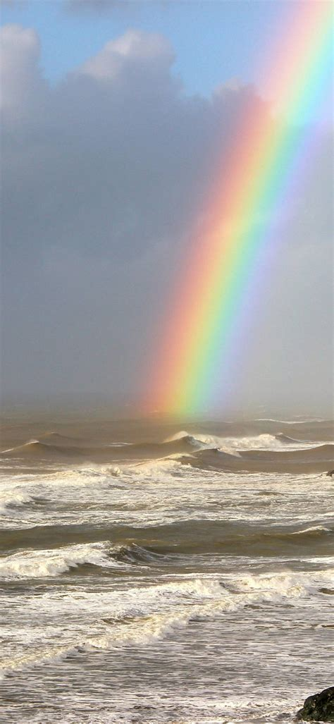 rainbow  sea wallpaper