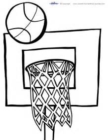 coloring pages sports basketball images
