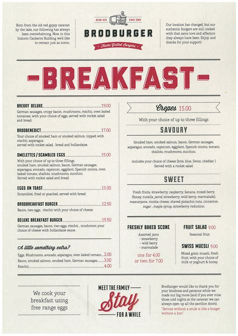 menu layout ideas restaurant brodburger is back updated the canberran