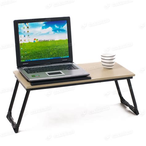 laptop bed desk laptop folding table with legs read brown board wood home