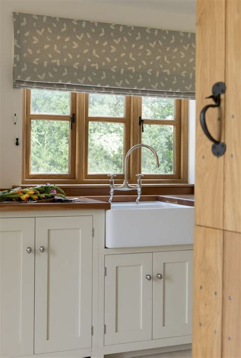 Country Style Kitchen Blinds by Meadow Farmhouse Utility Room Border Oak Kitchen
