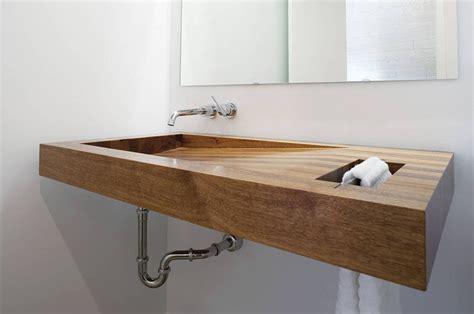 wooden bathroom sink bathroom design idea install a wood sink for a natural