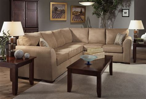 camel couch camel microfiber modern sectional sofa w optional items