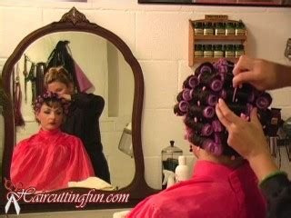 curler punishment pink brush rollers haircuttingfun