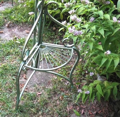 Metal Plant Trellis Garden Arch Trellis W Side Plant Stands Wrought Iron
