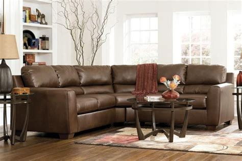 durablend leather sectional bark durablend leather sectional at gardner white