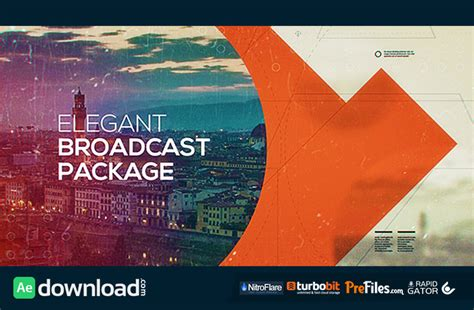 after effects free broadcast templates elegant broadcast package videohive project free