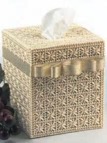 Plastic canvas tissue topper smyrna cross tissue box cover