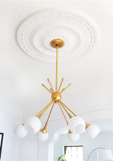 Medallion For Chandelier How To Center A Light Fixture Using A Ceiling Medallion Francois Et Moi