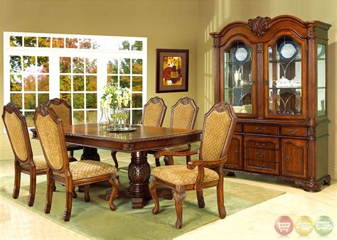 traditional dining room sets cherry alliancemv com betty cherry traditional medium wood formal dining set