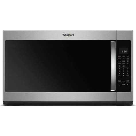 whirlpool 30 in w 2 1 cu ft the range microwave in