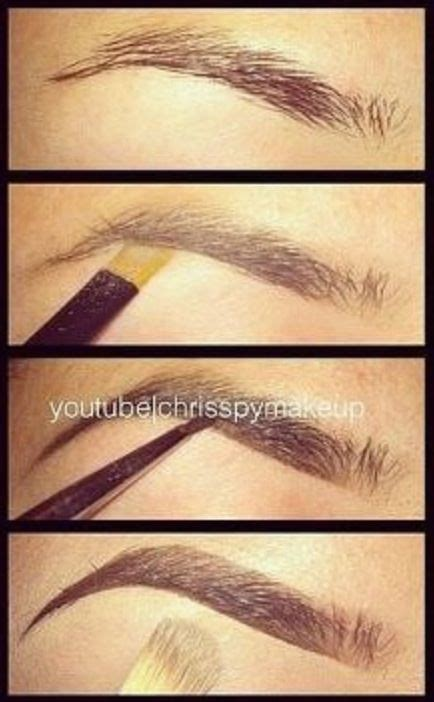 proper way to fill in eyebrows eyebrow tutorial perfect eyebrows make up ideas ღ