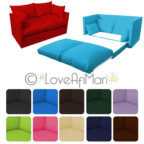kids fold out couches fold out 2 seater kids teens sofa sofabed guest bed futon