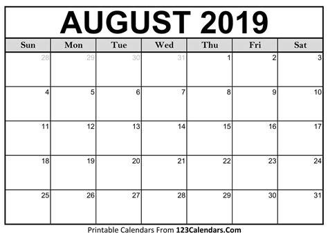 Printable August 2018 Calendar Templates 123calendars Com August 2018 Calendar Template