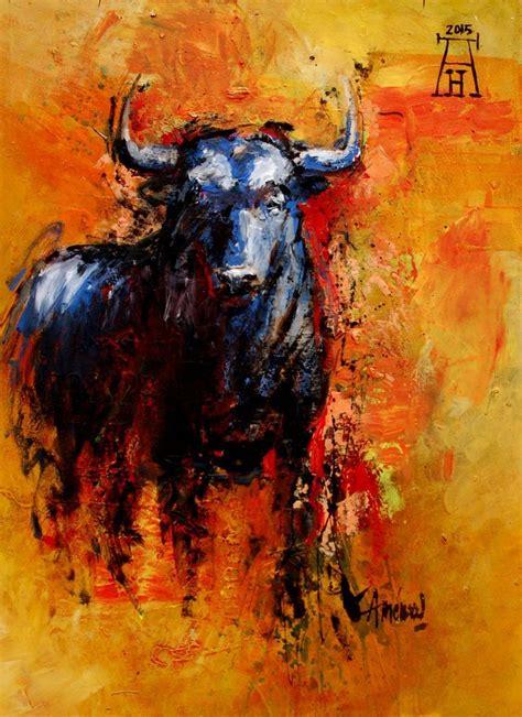 encontrado en google en pinterestcom bull painting bull art animal paintings
