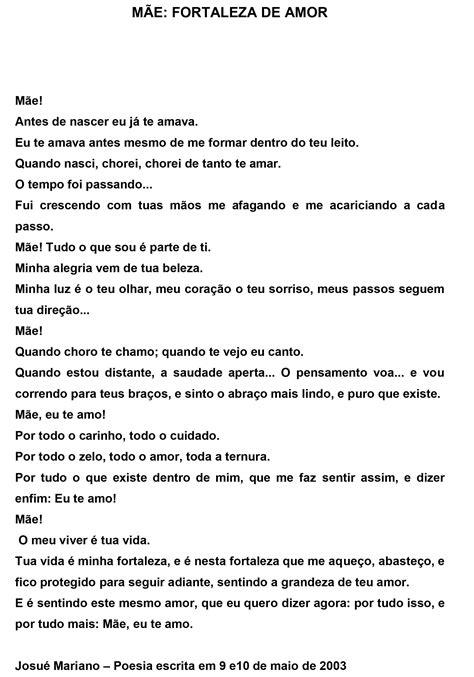 Poesia - Mãe: Fortaleza de amor > Blog do Josué Mariano em