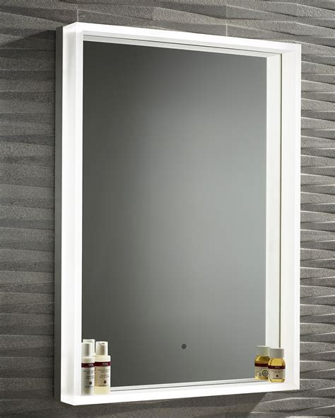 roper aura illuminated framed mirror 500 x 700mm