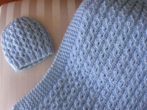 Babybee Blanket Blue knitted baby blankets www imgkid the image