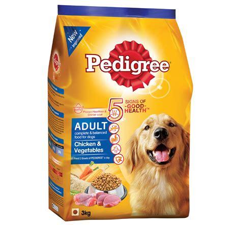pedigree adult dog food chicken vegetables  kg