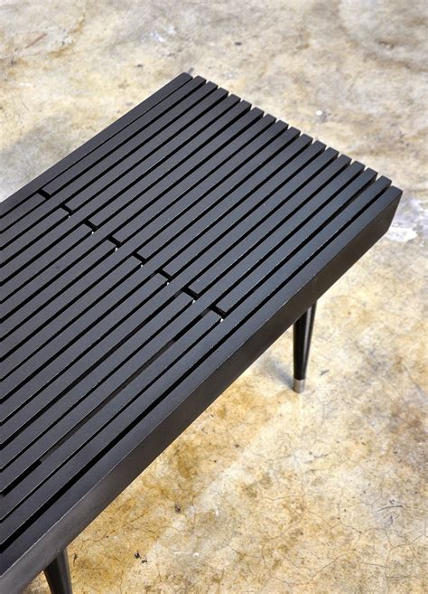 select modern black expandable slat bench  coffee table