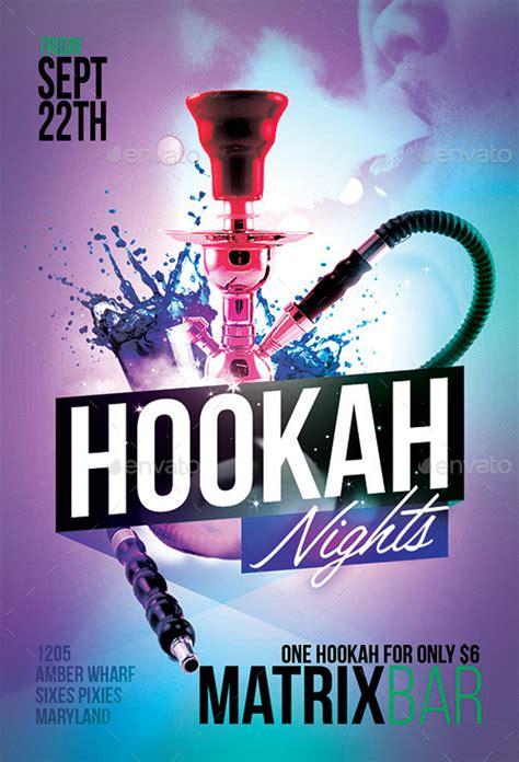 hookah nights party flyer template by flyermarket