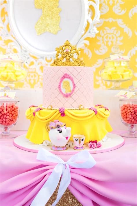 Kara's Party Ideas Princess Belle Beauty and the Beast Birthday Party   Kara's Party Ideas