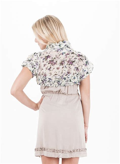 Puff Shoulder See Through Blouse puff sleeve blouse floral crop top trendy top