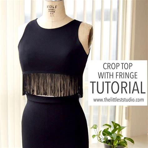 sewing pattern crop top free pattern fringed crop top sewing
