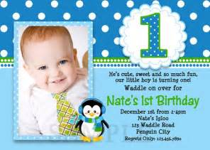printable birthday invitations boys penguin