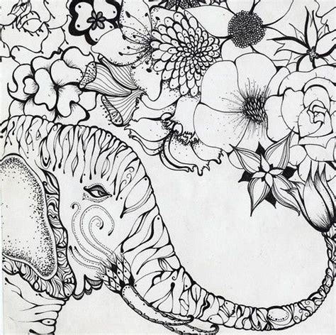 coloring pages for adults elephant 97 best images about zentangle elefantes on pinterest