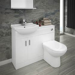 cove 1050mm vanity unit cloakroom suite basin mixer