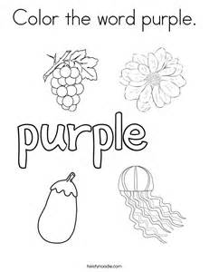 things that are coloring pages color the word purple coloring page twisty noodle