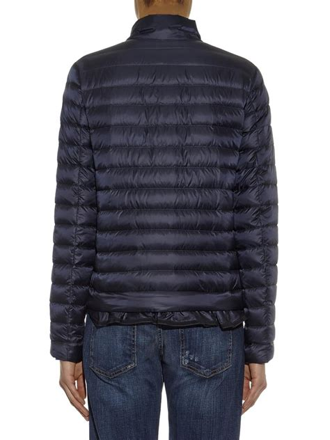 moncler blein lightweight quilted jacket in blue lyst