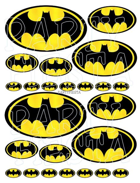 printable batman logo stickers 17 best images about batman birthday on pinterest mylar
