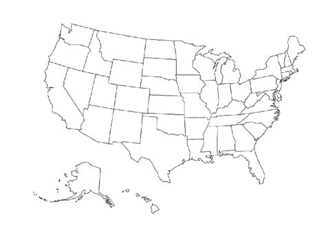 Outline Of The Us Map With States by 100 United States Map Vector States Free Vector Map Of The Us United States Map Vector