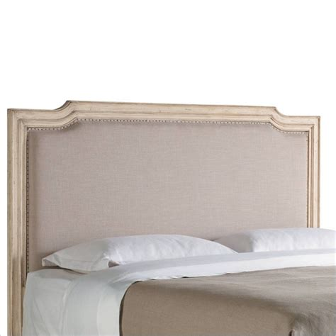 White Cottage Headboard Stanley Furniture European Cottage Upholstered King Headboard In Vintage White And Oatmeal 007