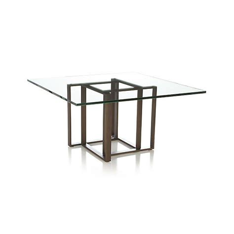 square coffee table crate and barrel
