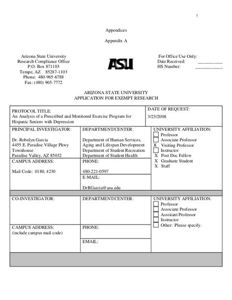 sle research proposal cover letter irb appendix