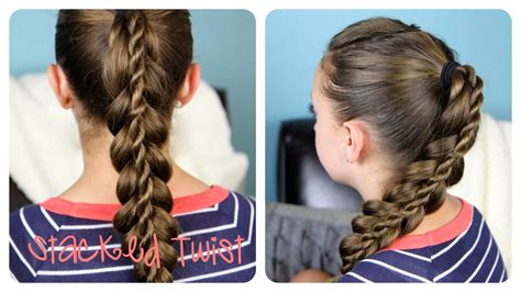 Stacked Twist Ponytail   Cute Girls Hairstyles   YouTube