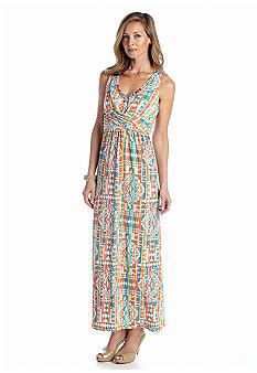 Maxi Dress Branded Ruby Rd Original Murah ruby rd coral collection embellished maxi dress belk everyday free shipping