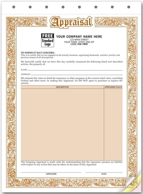 jewelry appraisal form template appraisal of jewelry for free style guru fashion glitz