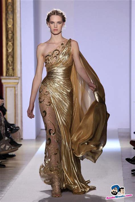 A model presents a creation by Lebanese designer Murad as