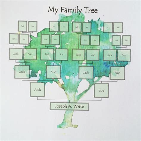 family tree template painted tree ridge light ranch
