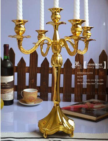 h45cm gold candelabra 5arm candelabra metal candlesticks