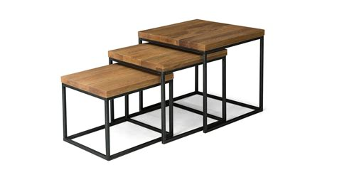 taiga side table coffee tables article modern mid taiga oak nesting tables coffee tables article