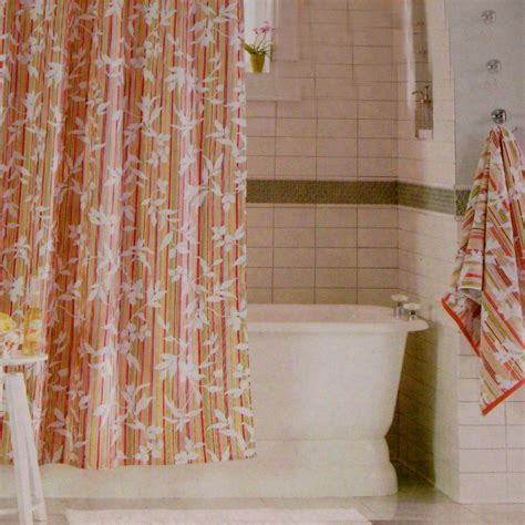 target shower curtains fabric threshold vine silhouette stripe red green fabric shower