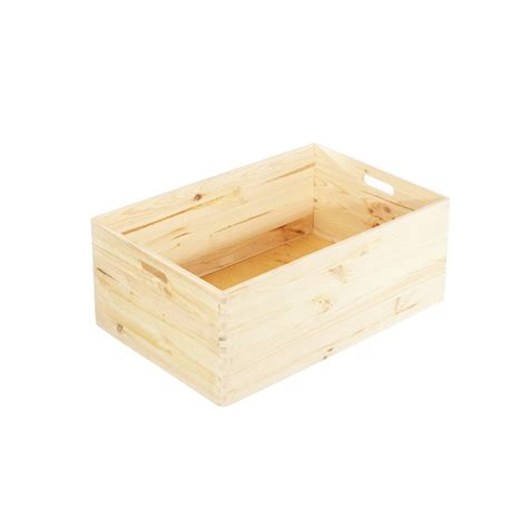 caisse de bureau caisse de rangement en bois empilable pin fsc