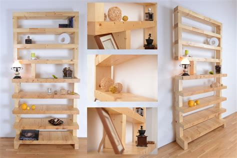 wooden brick shelve contemporary display and wall