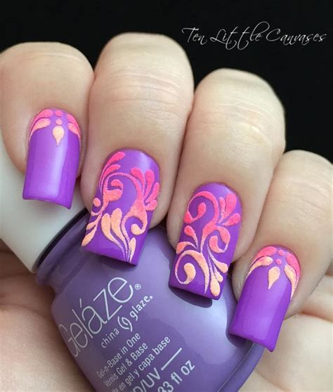 Purple Nail Designs For Nails trendy purple nail designs easyday